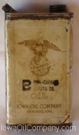 Iowa Oil Company Half Gallon
