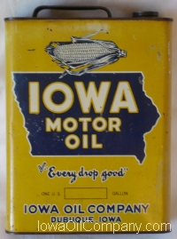 Iowa Oil Gallon Can